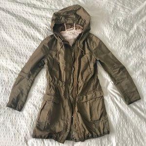 H&M Olive Green Anorak Utility Jacket